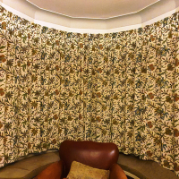 Butterfly crewel curtains