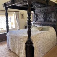 The Great Chamber, Old Hall, Burnham Broom. The bed is dated 1675. Reproduced with kind permission of Brigitte Webster.